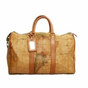 Alviero Martini Classe world map brown large Bosto